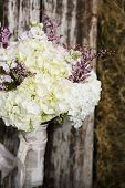 retro organic wedding bouquet - rustic