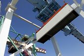 container in mid-air and crane