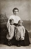 stock photo of knickers  - The Twins Antique Photograph - JPG