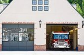 Fire House with Engine