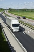 lorry, truck on clean motorway