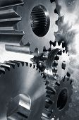 stock photo of duplex  - gears of steel and titanium - JPG