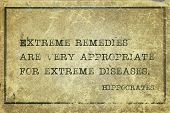 Extreme Remedies Hippocrates poster