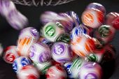 Colourful Lottery Balls In A Machine poster