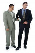 Businessman Or Politician Taking Bribe