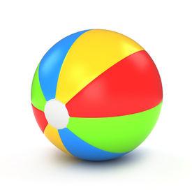 stock photo of beach-ball  - 3D Illustration of a Colorful Beach Ball - JPG