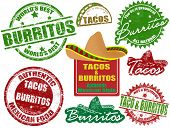 Tacos And Burritos Stamps