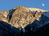Moonrise In Banff