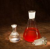 Vintage Chemistry Bottles
