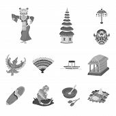 Vector Illustration Of Asian And Geography Icon. Collection Of Asian And Tourism Vector Icon For Sto poster