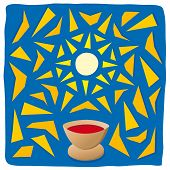 picture of eucharist  - Illustration of the host and chalice - JPG
