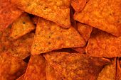 picture of doritos  - Hot and spicy corn chips - JPG