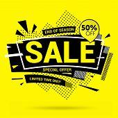 Sale Banner Template Design, Special Offer. End Of Season Special Offer Banner. Vector Illustration. poster