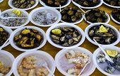 Raw Microcosmus Sabatieri, Mussels, Oysters, Sea Truffle, Sea Lemon Or Egg Sea, Sponge, Eatable Sea  poster