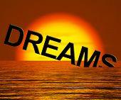 Dreams Word Sinking Showing Broken Or Unreachable Dream