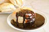 pic of biscuits gravy  - Scones with chocolate gravy - JPG