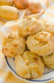 Knishes with potato and onion - Jewish pastry