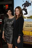 LOS ANGELES, CA - FEB 16: Michaela Watkins; Erinn Hayes at the premiere of Universal Pictures' 'Wand
