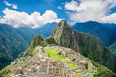 View Of The Lost Incan City Of Machu Picchu Near Cusco, Peru. Machu Picchu Is A Peruvian Historical  poster