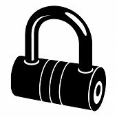 Big Padlock Icon. Simple Illustration Of Big Padlock Icon For Web. poster