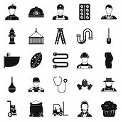 Different Professions Icons Set. Simple Set Of 25 Different Professions Icons For Web Isolated On Wh poster