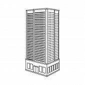 Vector Design Of Skyscraper And House Symbol. Set Of Skyscraper And Residential Vector Icon For Stoc poster