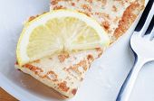 Pancake With Lemon Slice And Sugar