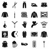 Apparel Icons Set. Simple Set Of 25 Apparel Icons For Web Isolated On White Background poster