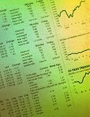 stock photo of stock market data  - newspaper section of the stock market - JPG