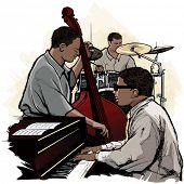 Ilustración de vector de una banda de jazz