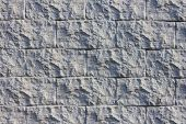 Decorative Wall. Brick Black. The Texture Of The Bricks. Gray Wall. Decorative Plaster. Gray Backgro poster