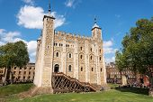 The White Tower - Main Castle Within The Tower Of London And The Outer Walls In London, England. It  poster