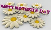 Happy Mother's day message with daisies