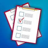 Creative Vector Illustration Of To Do Check List Ticks, Clipboard On Background. Art Design Planning poster