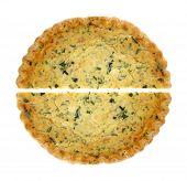 Spinach Quiche Pie Halves