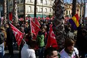 Flags at the demonstration 2