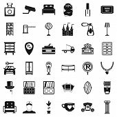 Homely Atmosphere Icons Set. Simple Set Of 36 Homely Atmosphere Icons For Web Isolated On White Back poster