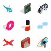 Occupation Icons Set. Isometric Set Of 9 Occupation Icons For Web Isolated On White Background poster
