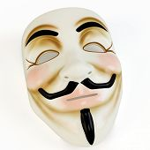 pic of anonymous  - 3d mask anonymous face symbol on white background - JPG