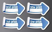 Nuevo precio pegatinas en forma de flecha.
