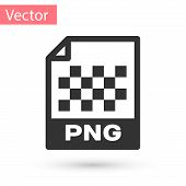 Grey Png File Document Icon. Download Png Button Icon Isolated On White Background. Png File Symbol. poster