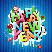 Frohes neues Jahr Grußkarte.