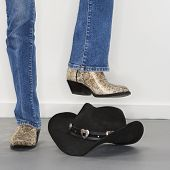 Boots Stomping Cowboy Hat.