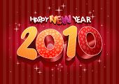 2010 new year composition. 3d vector design. All elements are layered separately in vector file.