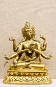 picture of bharata-natyam  - Hindu mythological traditional god statuette in bronze ore - JPG