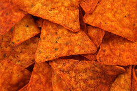 stock photo of doritos  - Hot and spicy corn chips - JPG