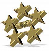 Cinco estrellas servicio
