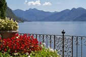 Overlooking lake Como in North Italy