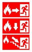 Fire danger signs set
