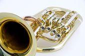 Tuba Euphonium Isolated On A White Background